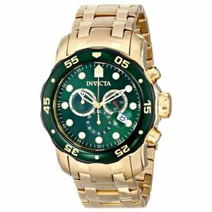 Invicta-Men-039-s-Pro-Diver-Watch-Quartz-Chronograph-Green-Dial-GT-Bracelet-80072