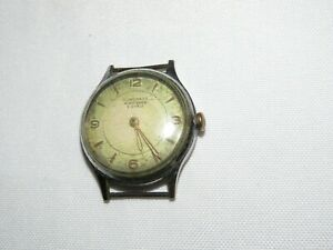 Vintage-1940s-RARE-JUNGHANS-RUBIN-ANKER-8-Jewels-German-Made-Running-Wristwatch