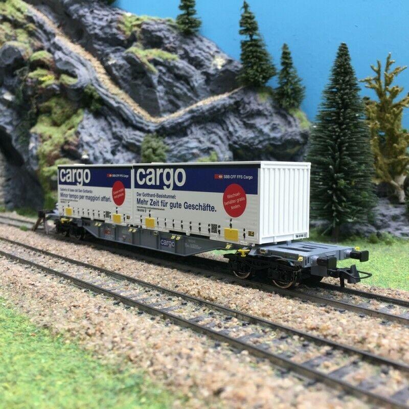 Wagon porte containers autoGO Ep VI SBBHO187ROCO 76622