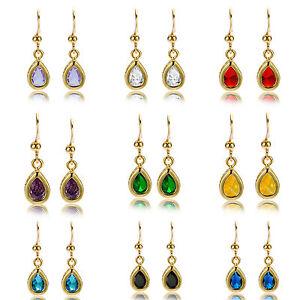 Women-Jewelry-Sale-18K-Yellow-Gold-Plated-Gp-Dangle-Earrings