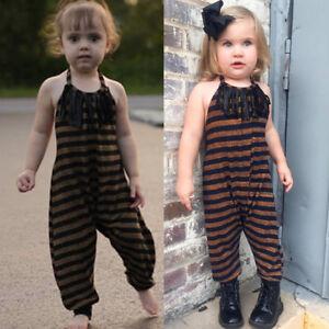 0b4b61667e6e Infant Toddler Kids Baby Girls Straps Striped Tassel Clothes ...