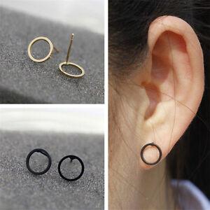 1288bb4234090 Details about Men Women Circle Stud Earrings O Shape Earrings Fashion Ear  Stud