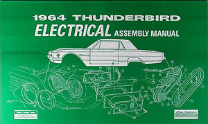 1964 thunderbird electrical assembly manual wiring diagrams 64 ford rh ebay com 1964 thunderbird convertible wiring diagram 1964 thunderbird turn signal wiring diagram