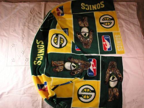 Seattle Sonics Fleece Scarf XTRA WIDE!!