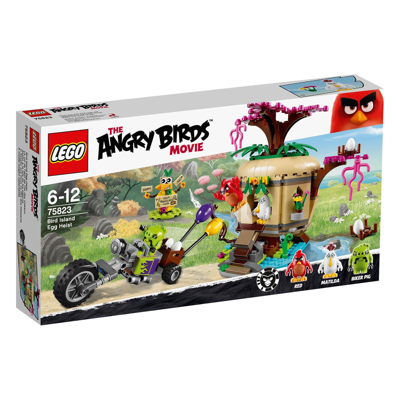 New  LEGO Bird Island Egg Heist The Angry Birds Movie Age 6-12   277 Pcs