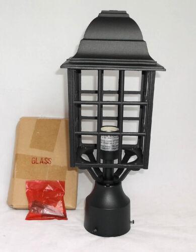 "Vaxcel Lighting Outdoor Post Light OP36765TB Vista Textured Black 6/"" NOS"