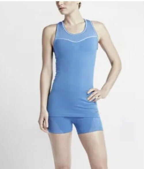 249ce222ee6a6 Nike Pro Hypercool Limitless Dri-fit Womens Training Tank Top S Blue 725654  435 for sale online