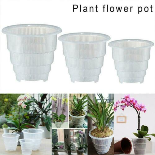 Mesh Pot Plastic Clear Orchid Container Flower Planter Home Gardening Decoration