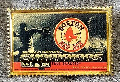 Vorsichtig Lmh Pinback Pin-flagge 2004 World Series Champions Boston Red Sox Briefmarke Hochwertige Materialien Weitere Ballsportarten