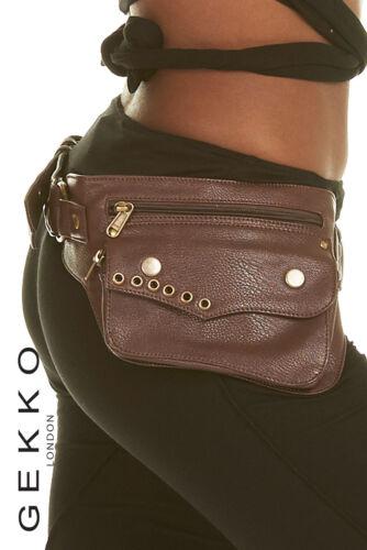 VEGAN LEATHER utility belt Hipbag FESTIVAL belt GEKKO POCKET BELT fanny pack