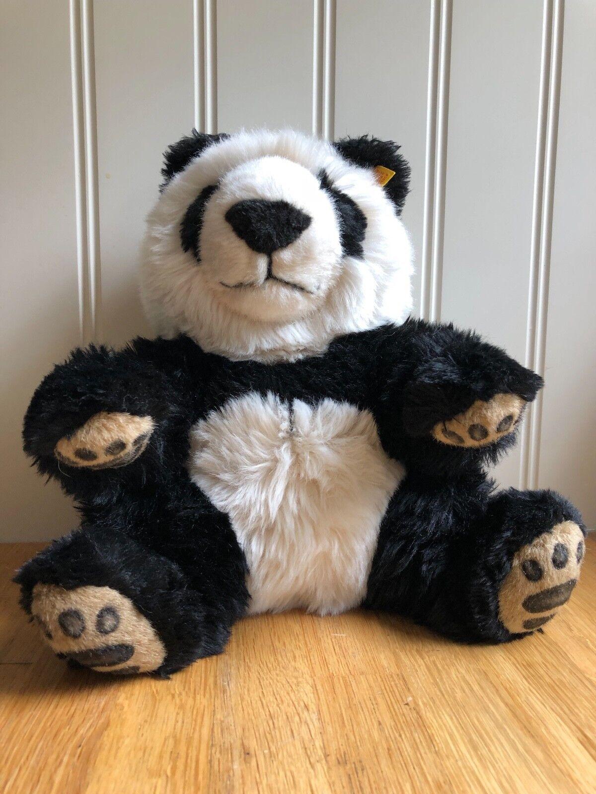 Cute Steiff Manschli Panda Bear 25cm064258