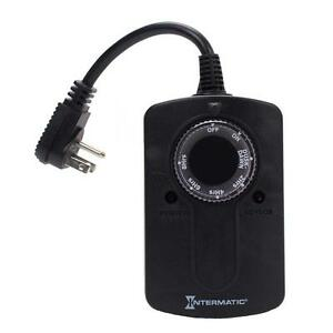 Image Is Loading Intermatic Light Sensor Outdoor Plug In Outlet Timer