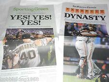 SF-GIANTS-DYNASTY-WORLD-SERIES-CHRONICLE-NEWSPAPER-10-30-2014  10/30