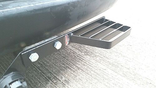 Heavy duty towstep towbar mounted single rear step van 4x4 in black