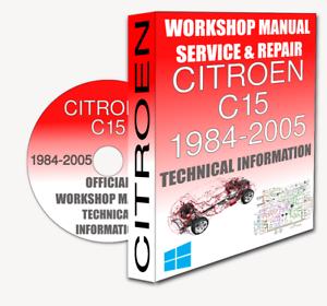 service workshop manual repair manual citroen c15 1984 2005 rh ebay ie Citroen C20 Four-Door Citroen Numero 9