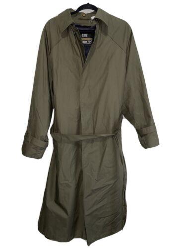 Towne London Fog Classic Trench Coat Olive Green L