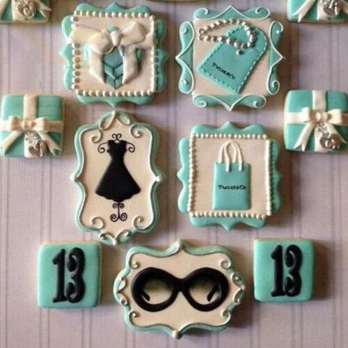 6FB7 4Pcs//Bag Plaque Frame Cake Mold Mould Cookie Cutter Decor Kitchen Accessori