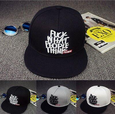 NEW Fashion Men Bboy Adjustable Baseball Cap Snapback Hip-Hop Hat Unisex