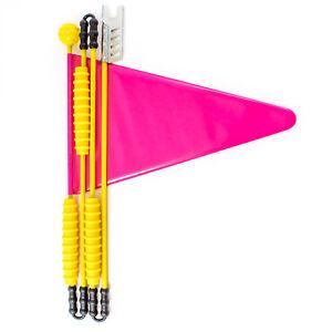 Vélo fanion vélo drapeau sécurité fanion Enfants Vélo 160 cm Pink  </span>