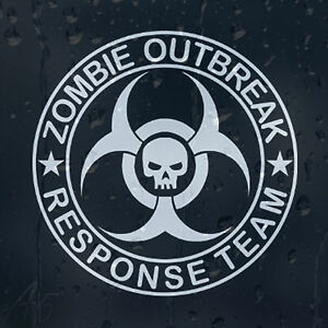 Zombie-Outbreak-Response-Team-Skull-Car-Or-Laptop-Decal-Vinyl-Sticker