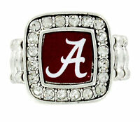 Alabama Crimson Roll Tide a Sec Football University College Stretch Ring 130-d