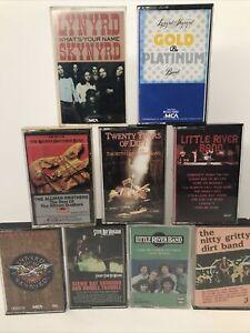 Lot of 9 - Southern Rock Cassette Tapes SKYNYRD Little River Band Stevie FS!