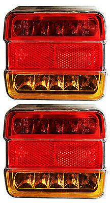 2 LED Light Rear Board Lamps Tail BRAKE STOP INDICATOR LAMP Trailer Truck Lorry