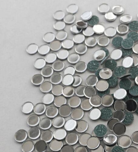 correctif 13 mm en verre effet miroir Shisha À COLLER 4 d i y carte ou tissu 30