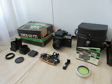 FULL SET ! SOVIET KIEV-60 TTL Medium Russian SLR camera + VOLNA 3 MC 2.8/80 lens