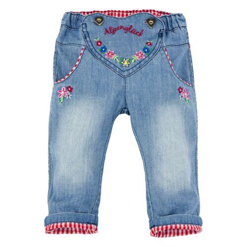 Bondi costumes pantalon jeans Alpes Bonheur fille trachtenhose NEUF 62 68 74 80 86 98