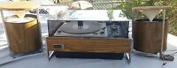Vintage Zenith Rd,1965 Sound System Solid State Rare With Original Speakers Nice