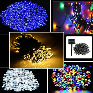 Image Is Loading 100 LED Battery Solar Powered Fairy String Lights