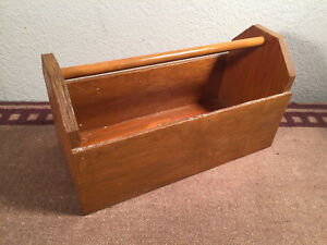 Real Wood Stained Handmade Tool Box Planter Decoration Or Functional