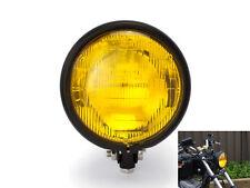 "5.75"" 12V 55W Bates Style Matt Black Custom Retro Cafe Racer Motorbike Headlight"