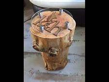 Beautiful Round Hand Crafted Tree Trunk Lamp Stand Tables.. All made To Order!