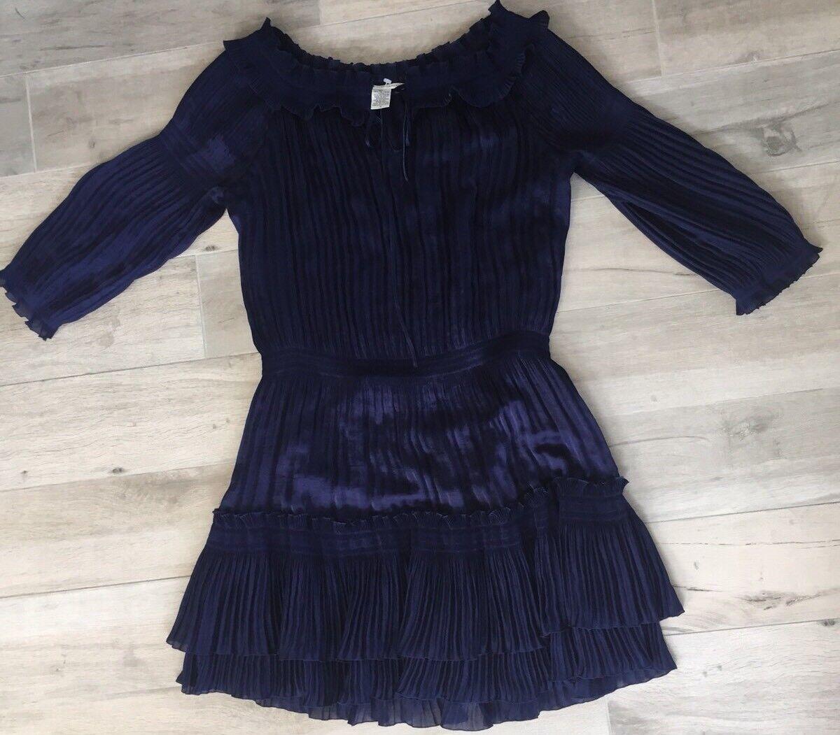 Diane Diane Diane Von Furstenberg Dress- Navy bluee- Size 10 922cb0