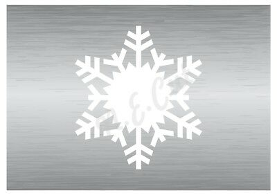 Christmas Snow Flake stencil 10 A5 to A0 14cm to 1.2 meters or bigger CMAS044