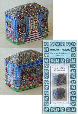 Christmas Cottage Cross Stitch Pattern 3D BrightSea Village #3
