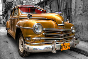 FACTOR WHEN FRAMED CUBA CLASSIC VINTAGE CARS SHOTS WOW!!!!