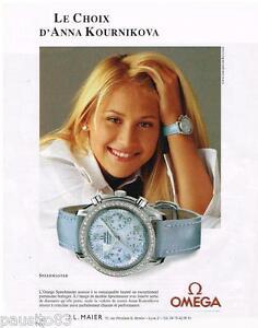 PUBLICITE ADVERTISING 105  2002  OMEGA  montre SPEEDMASTER ANNA KOURNIKOVA