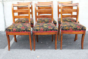 Great Antique Set of Six English Country Style Walnut ...