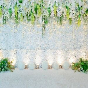 8x8ft white flower wall backdrop wedding stage background prom image is loading 8x8ft white flower wall backdrop wedding stage background mightylinksfo