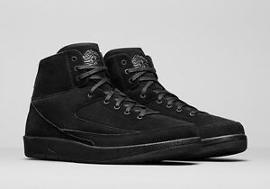 4316f6cb30dfde NIKE AIR JORDAN 2 RETRO DECON 897521-010 TRIPLE BLACK Men s Brand ...