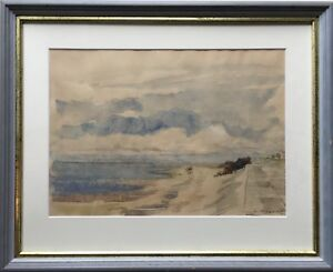 Erich-Wessel-1906-1985-at-the-Beach-from-Duhnen-Cuxhaven-North-Sea