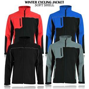 Mens Soft Shell Fleece Lined Jackets Waterproof Outdoor Work Windproof Jacket