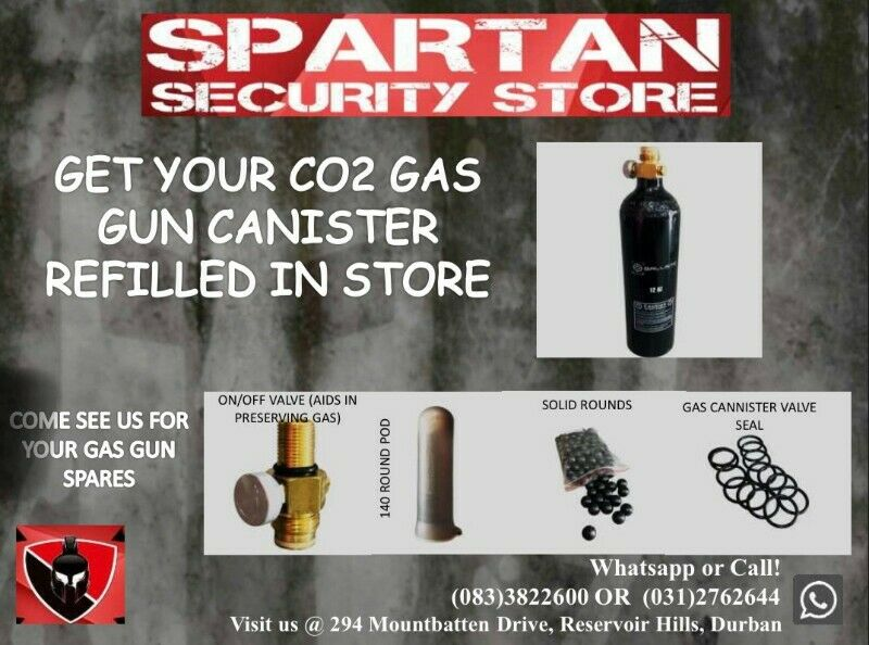 Get your CO2 gas canisters refilled in store