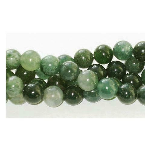 Moss Agate Round Beads 12mm Green 30 Pcs Gemstones DIY Jewellery Making Crafts