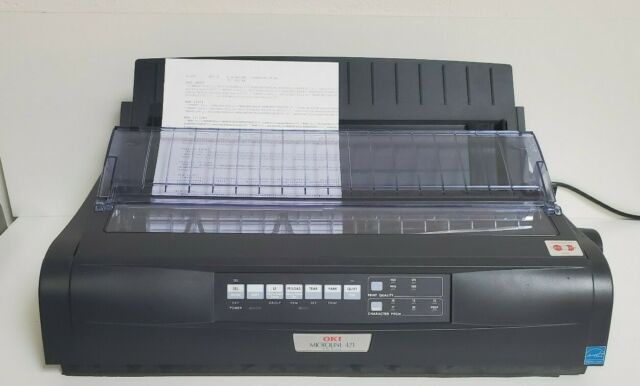 OKI OKIDATA MICROLINE 421 9-PIN DOT MATRIX USB PARALLEL PRINTER D22910A