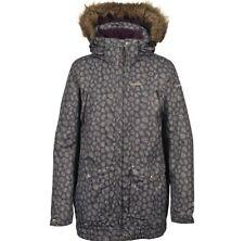 New Ladies Womens Trespass Begin Winter Faux Fur Trim Snow Ski Jacket  Coat  XS