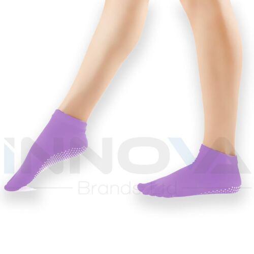 Calze Yoga Non Slip Pilates Massaggio 5 Toe Socks con grip Esercizio Gym Purple
